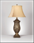Famous Brand Lamps | Set of 2 Katarina Table Lamps Brass L511934by Signature Design by Ashley