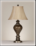Famous Brand Lamps | Set of 2 Nitzana Table Lamps Antique Silver L521904 by Signature Design by Ashley