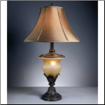 Famous Brand Lamps | Danielle Set of 2 Table Lamps Bronze & Glass L530944by Signature Design by Ashley