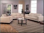 Metro Cream Leather Living Room Set - Coaster Furniture (SKU: CO502461)