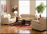 Eastwood 2 Piece Sofa Set in Taupe Leather by Coaster