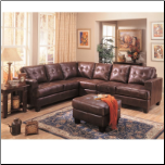 Modular Bonded Leather Sectional Sofa Couch Ottoman Set (SKU: CO500911-BSEC-SET)