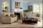 Trudy 2 Piece Living Room Set in Beige Bonded Leather Cover by Coaster - 502331S (SKU: CO502331S)