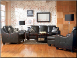 Java 2 Piece Living Room Set in Black Bonded Leather Upholstery by Coaster - 502271S (SKU: CO502271S)