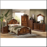 Richardson 6 Piece Bedroom Set in Rich Caramel Finish by Coaster - 200481 (SKU: CO-200481-KBSET)