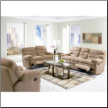 Sullivan 2 Piece Motion Sofa Set in Chocolate Microfiber COA-600401S (SKU: CO600461-RLR-SET)