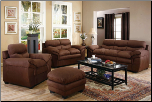 The Piper Living Room Collection 502081N by Coaster Deep Chocolate Finish, Microfiber (SKU: CO -502081-LR-SET)