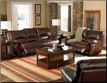 lifford Double Reclining Living Room Set in Brown Leather by Coaster - 600281S (SKU: CO -600281-RLR-SET)