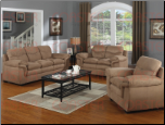 Piper  Living Room Set in Mocha Microfiber by Coaster - 502091S (SKU: CO -502091-LR-SET)