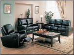 Kingslee Black  Reclining Living Room Set - 600421 - Coaster Furniture (SKU: CO600421-RLR-SET)
