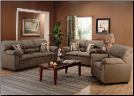 Sumner Smoke Green Microfiber Living Room Set by Coaster (SKU: CO -502221-LR-SET)