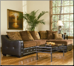 Union Contemporary Chenille Sectional with Leather-Like Base by Coaster (SKU: CO -503001-SEC)