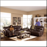 Exhilaration Chocolate Living Room Set By Ashley Signature
