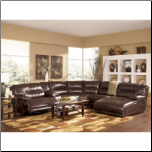 Exhilaration Chocolate Power Reclining Sectional Signature Design by Ashley Furniture