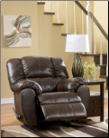 Dylan DuraBlend - Espresso Bonded Leather Match Rocker Recliner by Signature Design by Ashley (SKU: AB- 70603-LR-R)