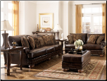 DuraBlend - Antique  Living Room Set Signature Design by Ashley Furniture (SKU: AB-99200LRS)