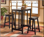 Conrad  - Counter Height Table with 4 Backless Bar Stools Set Signature Design by Ashley Furniture