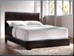 Upholstered Beds Contemporary Queen Upholstered Platform Bed 300261Q (SKU: CO-300261-BED)