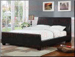 Brown Leather-Like Vinyl Bed by Coaster - 300251Q (SKU: CO-300251-BED)