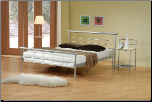 Coaster 300181 Contempoarary Metal Silver Queen Bed (SKU: CO-300181-BED)