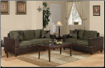 Poundex Bobkona F7596 Sage 2pc Sofa & Loveseat Set sofa and loveseat (SKU: PXSS-7596-LRS)