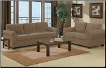 Corduroy Tan Contemporary Style Sofa and Loveseat Set F7141