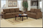 Waffle Suede Truffle Sofa and Loveseat Set F7143 (SKU: PXSS-F7143-LRS)