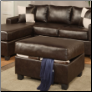 Bobkona Leather Sectional Set by Poundex Furniture