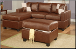Leather Match Brown Sectional Sofa F7335 (SKU: PXSS-7335-SECTIONAL)