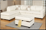 3 Pieces Sectional Sofa in Brown Finish by Poundex