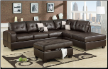 2-Pcs Sectional Sofa Leather Match Espresso  Sectional