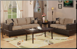 Poundex Bobkona F7595 Hazelnut 2pc Sofa & Loveseat Set sofa and loveseat (SKU: PXSS-7595-LRS)