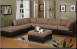 Saddle Microfiber Contemporary Modular 6Pc Sectional Sofa (SKU: PXSS-F7374 -SECTIONAL)