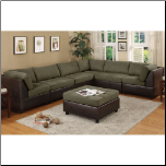 Sage Microfiber Plush Contemporary 6Pc Modular Sectional Sofa (SKU: PXSS-F7680 -SECTIONAL)