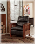 Santa Fe - Chocolate Leg Recliner Signature Design by Ashley Furniture (SKU: AB-19901-RR)
