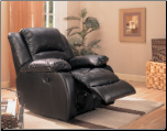 Coaster 600248 Rocker Recliner in Black Bycast Leather (SKU: CO-600248)