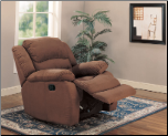 Chocolate Microfiber Ultra Padded Rocker Recliner Chair (SKU: CO-600257RC)