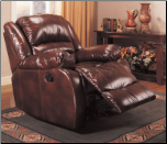 Coaster 600258 Rocker Recliner in Brown Bycast Leather (SKU: CO-600258)