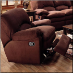 Owen Microfiber Rocker Recliner by Coaster Fine Furniture (SKU: CO-600323)