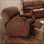 Paulina Microfiber Rocker Recliner by Coaster Fine Furniture (SKU: CO-600413)