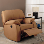 Recliner Rocker in Gold Microfiber by Coaster Fine Furniture (SKU: CO-600415)
