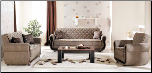 Argos Terapy Light Brown Living Room Set - Sunset Furniture - Istikbal
