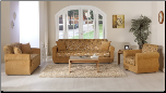 Melody 2 Pcs Living Room Set in Yasemin Mustard (Sofa and Loveseat) - Sunset Furniture-Istikbal (SKU: IS-Melody-Set-MUST)