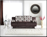 Fantasy Sofa Bed In Aristo Burgundy - Sunset Furniture - Istikbal