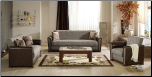 Alfa Redeyef Brown Living Room Set (Sofa and Loveseat) - Sunset Furniture - Istikbal