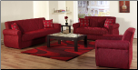 Melody 2 Pcs Living Room Set in Alfa Red (Sofa and Loveseat) - Sunset Furniture-Istikbal (SKU: IS-Melody-Set-Alfa Red)