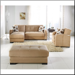 Kubo Sectional Sofa Set Dark Beige by Sunset - Sunset Furniture - Istikbal (SKU: IS-KUBO-DB-set)
