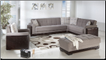 Roma 3 Pcs Sectional Set in Cansas Fume Fabric - Sunset Furniture-Istikbal (SKU: IS-Roma-Set-FUM)