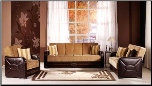 Shape 2 Pcs Living Room Set in Flora Brown (Sofa and Loveseat) - Sunset Furniture-Istikbal (SKU: IS-Shape-Set-BR)