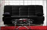 Vegas Rainbow Black Convertible Sofa Bed - Sunset Furniture-Istikbal (SKU: IS-Vegas-S-BLACK)